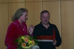 Marion Warden erinnert an gemeinsame Zeiten mit Joachim Pissarek.