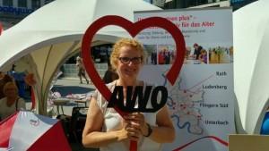 ein Herz für die AWO....Ortsvereinsvorsitzende Marion Warden auf dem NRW Fest!